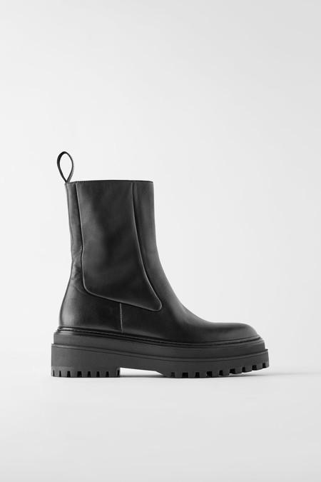 botas con plataforma de zara