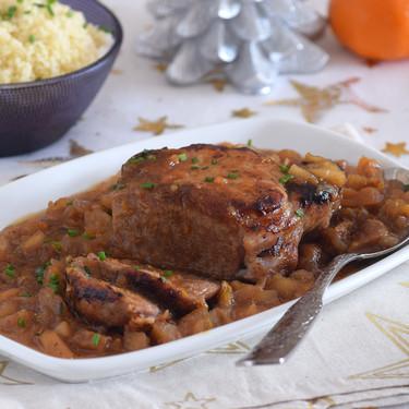 Lomo de cerdo con salsa de frutas: receta fácil y económica para mojar pan