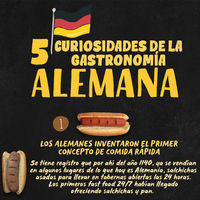 5 curiosidades de la gastronomía Alemana. Infografia especial Mundial 2018