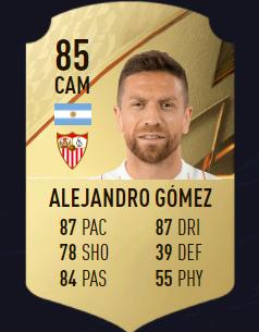Gómez FIFA 22 mejores centrocampistas