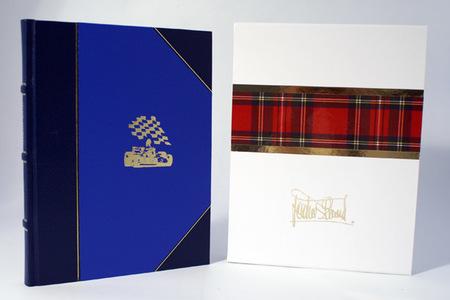 Collage by Sir Jackie Stewart Limited Edition Book, encuadernación en piel