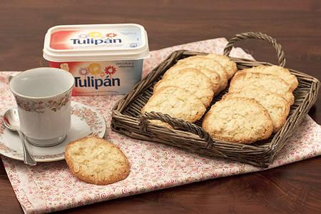 Receta de tejas de almendras con margarina Tulipán