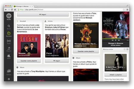 """Spotify lanza de manera oficial su cliente web en conjunto con su pestaña """"Discover"""""""