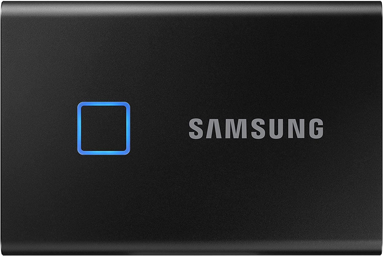 Samsung T7 Touch - Unidad de Estado sólido externa portátil de 500GB con lector de huella digital