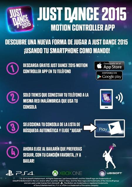 Just Dance 2015 Motion Controller App Infografía