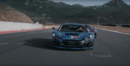 Rimac nos enseña parte del desarrollo de su coche eléctrico, el C_Two de 1.940 CV, rodando a fuego en circuito