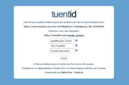 TuentID, una dirección web decente para nuestros perfiles en Tuenti