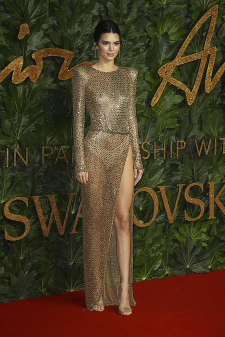Alfombra Roja British Fashion Awards 2018 Kendall Jenner Julien Mcdonald