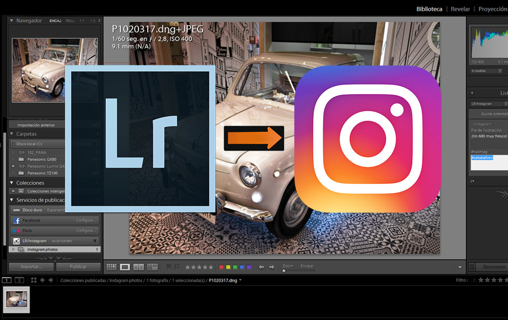 LR/Instagram, probamos el plugin que facilita publicar fotos desde Lightroom a Instagram