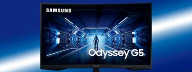 """El monitor gaming Samsung Odyssey G5 de 32"""", 144 Hz, 1 ms y HDR10 alcanza su precio mínimo histórico en Amazon: 279,99 euros"""