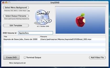 SmallDVD: Autoría de DVD, muy simple