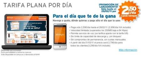 """Nueva """"Tarifa Plana Por Día"""" de Simyo por 2,5 euros diarios"""