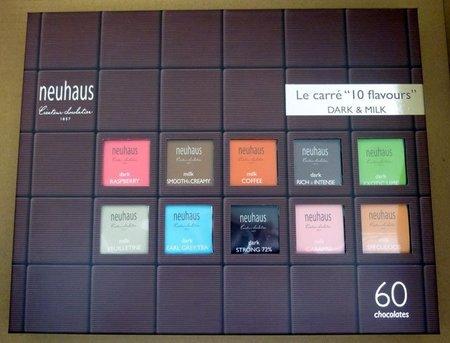 "Chocolate belga Neuhaus, probamos el surtido Le Carré ""10 flavours"""