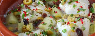 Bacalao agrodolce con puerros: receta agridulce italiana