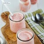 Helado de yogur griego con fresas. Receta fácil y saludable