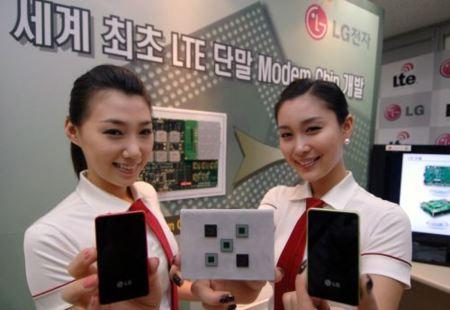 LG desarrolla un chip módem LTE para dispositivos portátiles