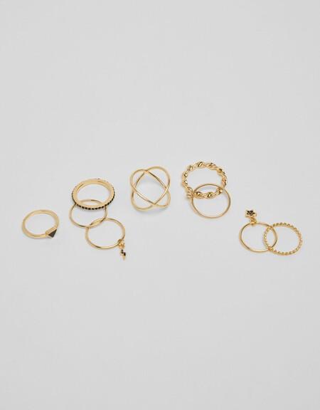 Pack anillos piedras