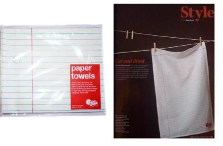 Toallas de papel... que no son de papel