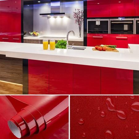 Vinilo para cocina en rojo