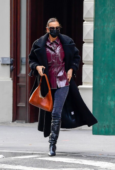 irina shayk street style