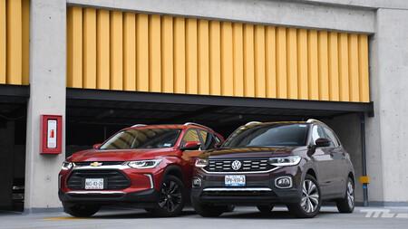 Chevrolet Tracker vs. Volkswagen T-Cross, comparativa: dos B-SUV de marcas superventas se enfrentan