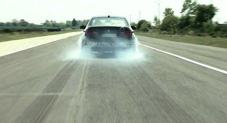 El nuevo BMW M5 en acción en la pista de pruebas