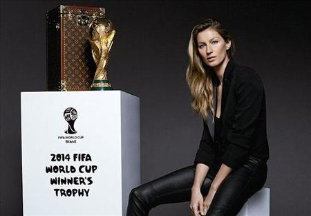 Louis Vuitton y Gisele en la final del mundial