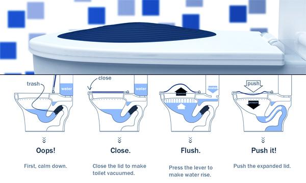 Conceptos tontos para el hogar inteligente: Un váter con desatascador incorporado