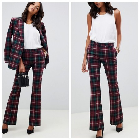 Pantalones Campana Cuadros
