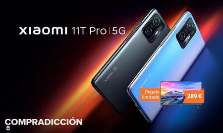 Chollazo. Sólo hoy en Amazon, tienes lo último en smartphones de Xiaomi por 50 euros menos con smart TV de regalo: Xiaomi 11T Pro 8GB+128GB por 599,99 euros