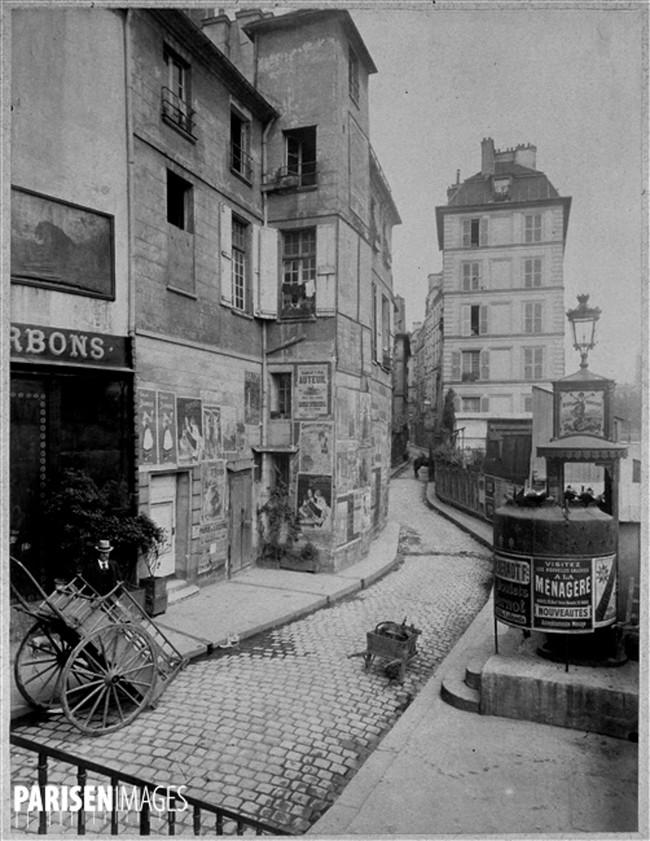 Eugène Atget - Rue des Ursins, París 1900