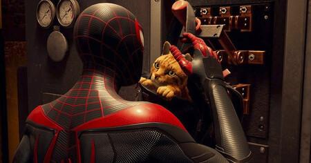Lo mejor de Spider-Man: Miles Morales no son los gráficos o los fps, es esta skin con un gato en la mochila que te ayuda al pelear