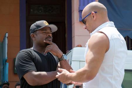 F. Gary Gray con Vin Diesel en el rodaje de Fast and Furious 8