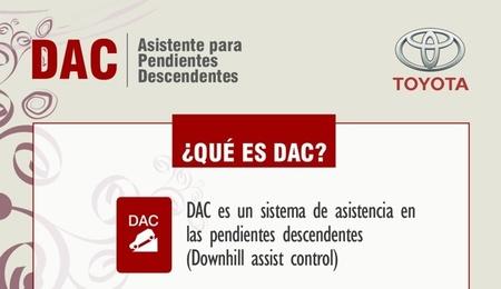 Cómo funciona el sistema DAC, asistente en pendientes descendentes. Infografía