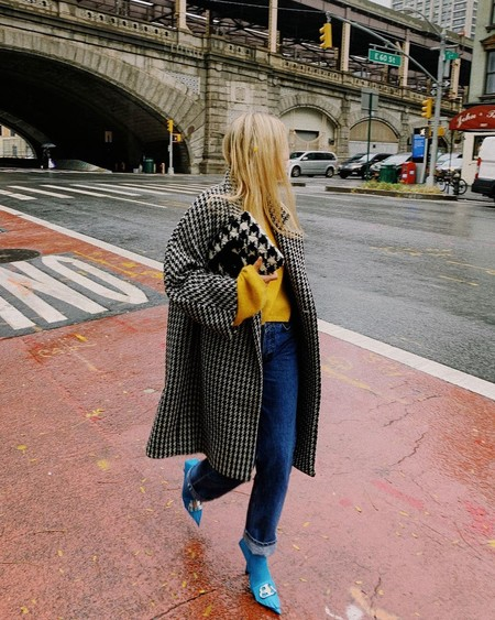 Charlotte Groeneveld Balenciaga Houndstooth Wool And Cashmere Coat Instagram