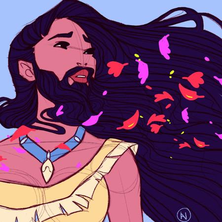 De Ariel a Pocahontas: las princesas Disney también se vuelcan con #movember y se dejan bigotazo