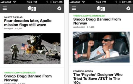 Nuevo Digg para IPhone