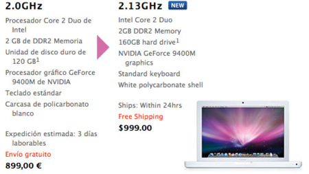 Apple actualiza por sorpresa el MacBook blanco de 13 pulgadas