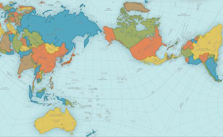 Este mapa del mundo parece estar mal, pero en realidad es casi perfecto