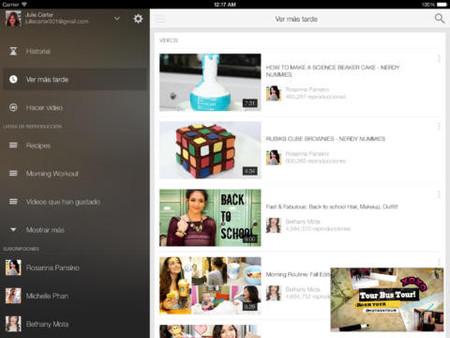 Youtube para iPad