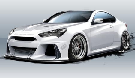 Este Hyundai Genesis de 500 CV se presenta en el SEMA y quiere comerse al BMW M4
