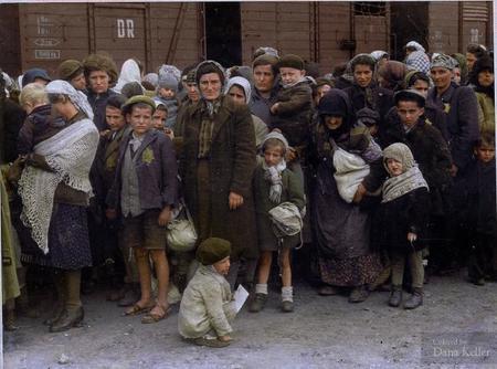 May 27, 1944 Jewish Women And Children Arriving At The Auschwitz Birkenau Extermination Camp In Poland