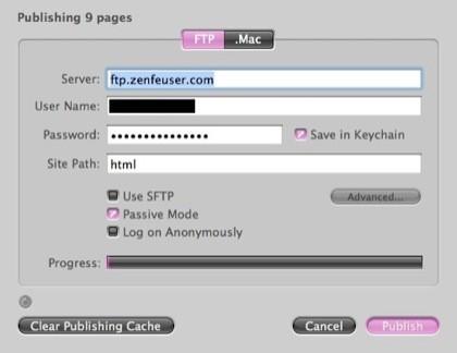 Rapidweaver FTP