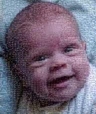 Foto mosaico de tu bebé