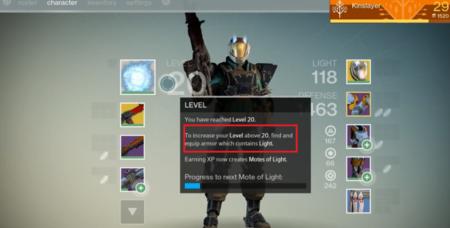 Destiny - el nivel máximo de los Guardianes será 20, aunque se podrá aumentar