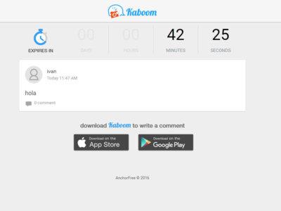 Kaboom lleva los mensajes que se autodestruyen a WhatsApp
