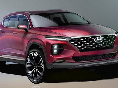 Y estos son los primeros bocetos del Hyundai Santa Fe 2018