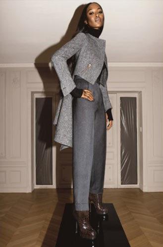 Foto de Naomi Campbell para YSL Otoño-Invierno 2008/09 (1/2)