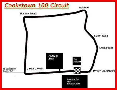 Cookstown 100 Map