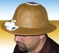 Sombrero de safari con ventilador solar
